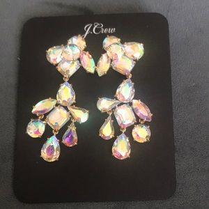 Jcrew Crystal Chandelier Earrings